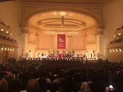 Carnegie Hall during graduation