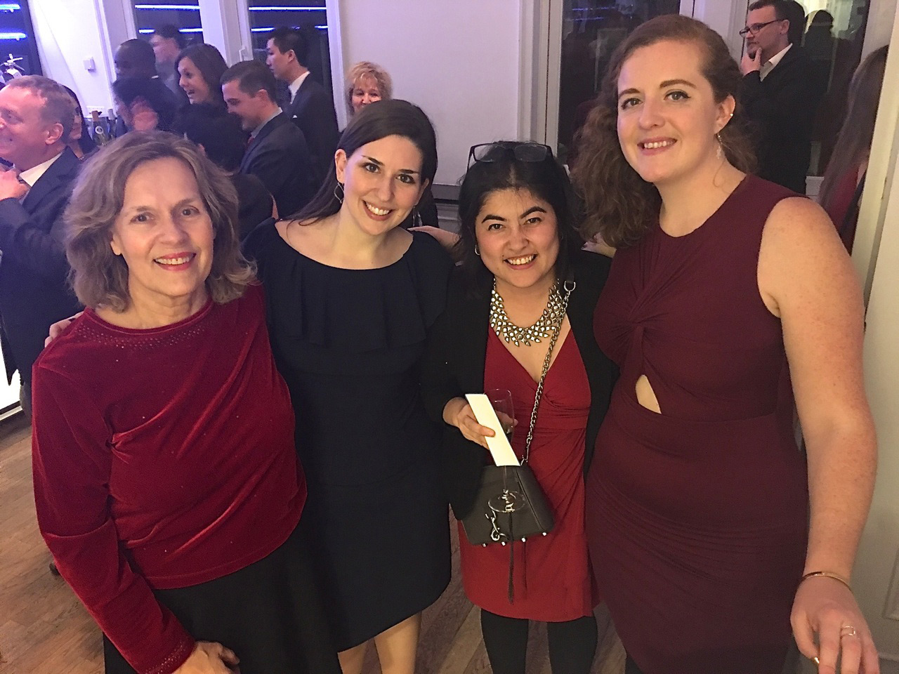 Dr. Gudas and others at a holiday party.