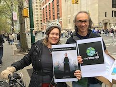 Dr. Gudas with colleague at March for Science 2017