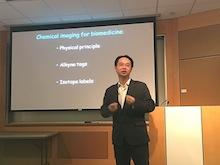 Dr. Wei Min giving a seminar.