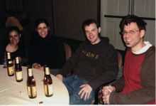 Students drinking at a party.