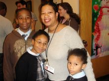 Kerry Victor and children