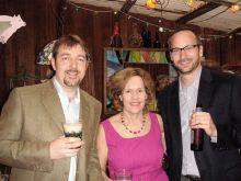 Dr. Geoff Abbott, Lorraine Gudas and David Christini