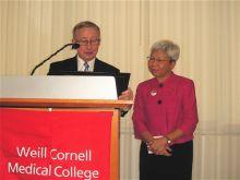 Dean Gotto presents the award to Dr. Szeto