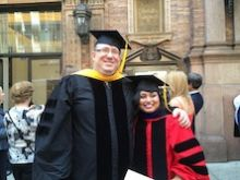 Dr. Levin and Nawreen Rahman