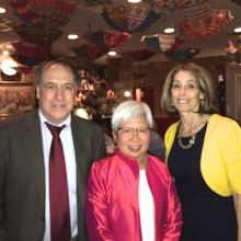 Dean Koretzky, Dr. Szeto and Dean Glimcher