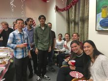 Attendees at 2016 Holiday Party.