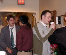 Students and faculty enjoy Holiday Party 2004.