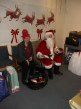 Students and faculty enjoy Holiday Party 2007.