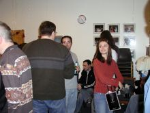 Students and faculty enjoy Holiday Party 2003.