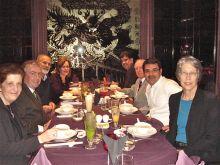 Dr. Betsy Ross; Dr. Tim Ryan; Dr. Wyatt Rory Hume, Executive Director, Education, Training and Development, Qatar Foundation; Dr. Lorraine Gudas; Dr. Abdul-Sattar Al-Taie, the Director of QRNF; Drs. David Robertshaw; Khaled Machaca; & Kathy Hajjar