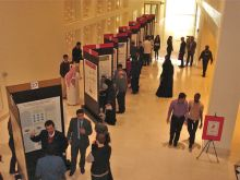 Poster session at the retreat.