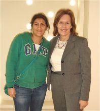 WCMC-Q medical student, Menna Omar, reunites with her summer research advisor, Dr. Lorraine Gudas.