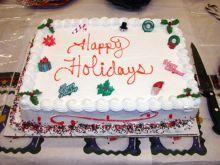 Cake at Holiday Party 2002.