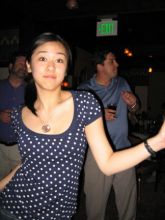 Student dancing at a party.