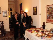 Drs. Lorraine Gudas, Lonny Levin and Dr. Levin's wife Jenny