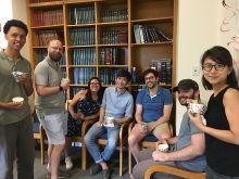 More postdocs and students enjoying more ice cream!