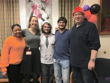 Shakkar, Stephanie, Tom, Jake and Dr. Levin