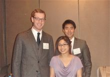 Pharmacology Ph.D. students Bill Mills, Bonnie Quach, & Wesley Chao at the Mitochondrial Therapeutic Symposium.