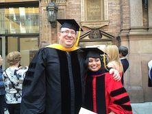 Dr. Levin and Nawreen Rahman