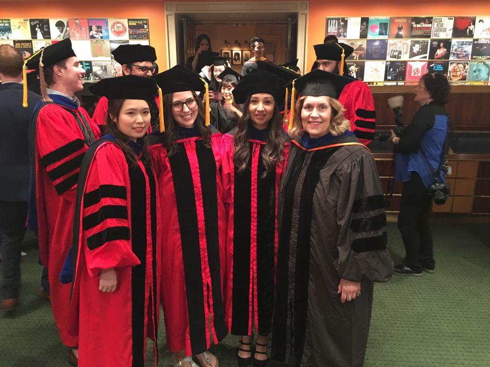 2018 Graduates with Dr. Gudas