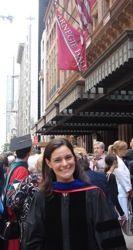 Dr. Cristina Fernandez at graduation