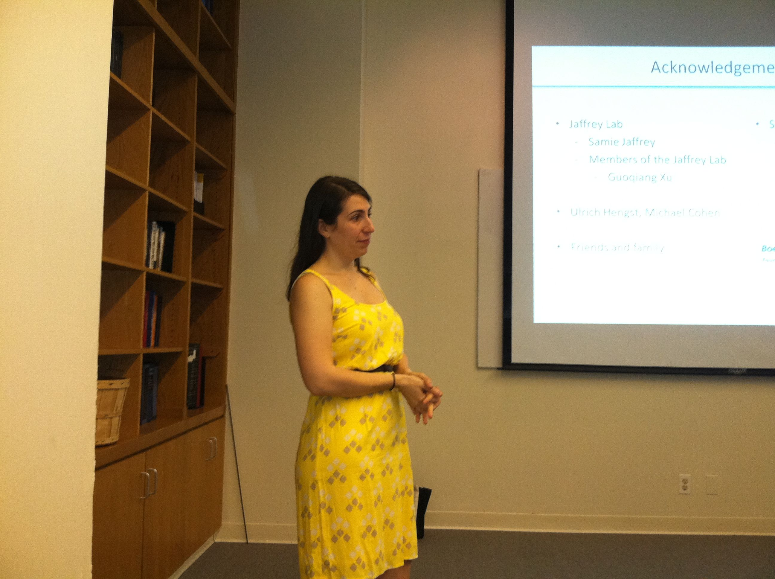 Alessia at her thesis defense.