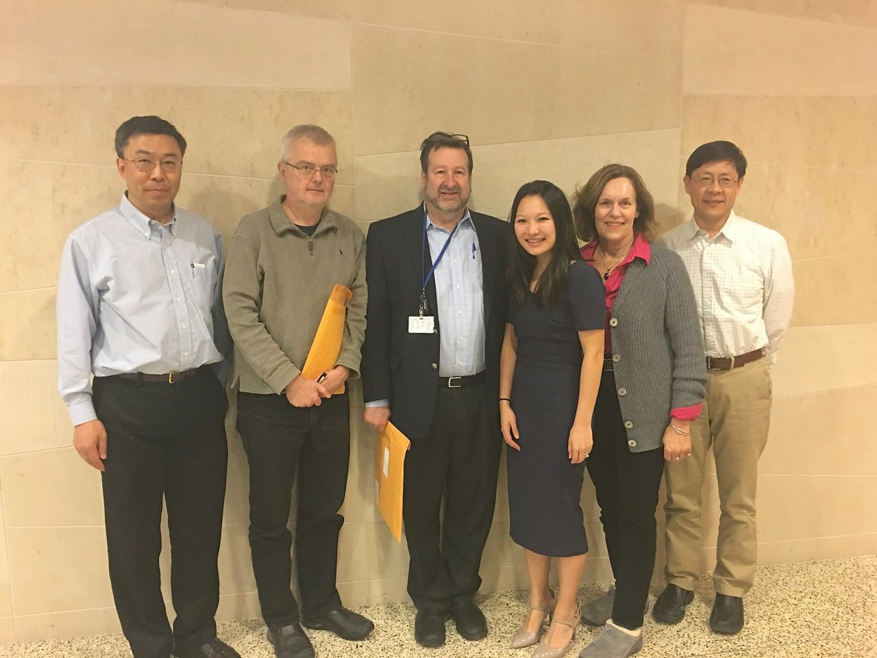 Thesis committee members Drs. Pengbo Zhou, Jochen Buck, David Scheinberg, Danica, Lorraine Gudas, and Yueming Li.