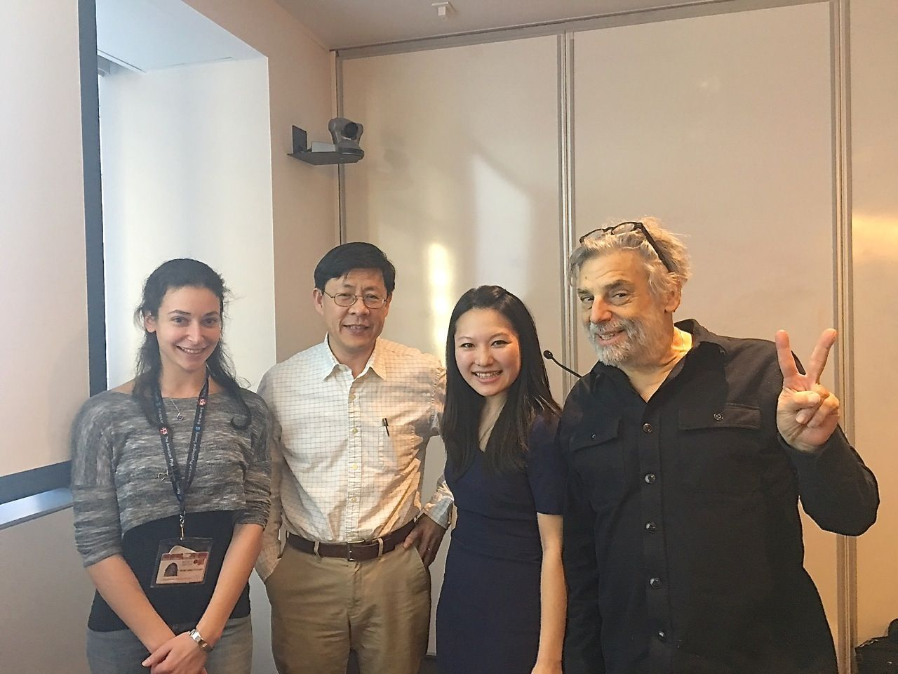 Danica and Yueming with Steve Gross right after her thesis presentation.