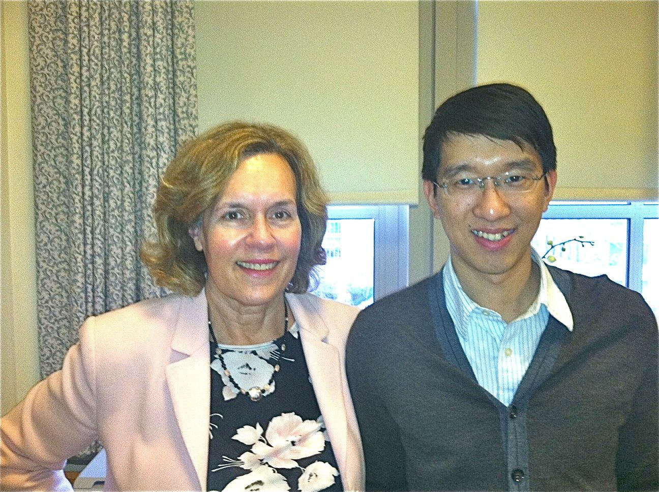 Deming Chao with Dr. Gudas