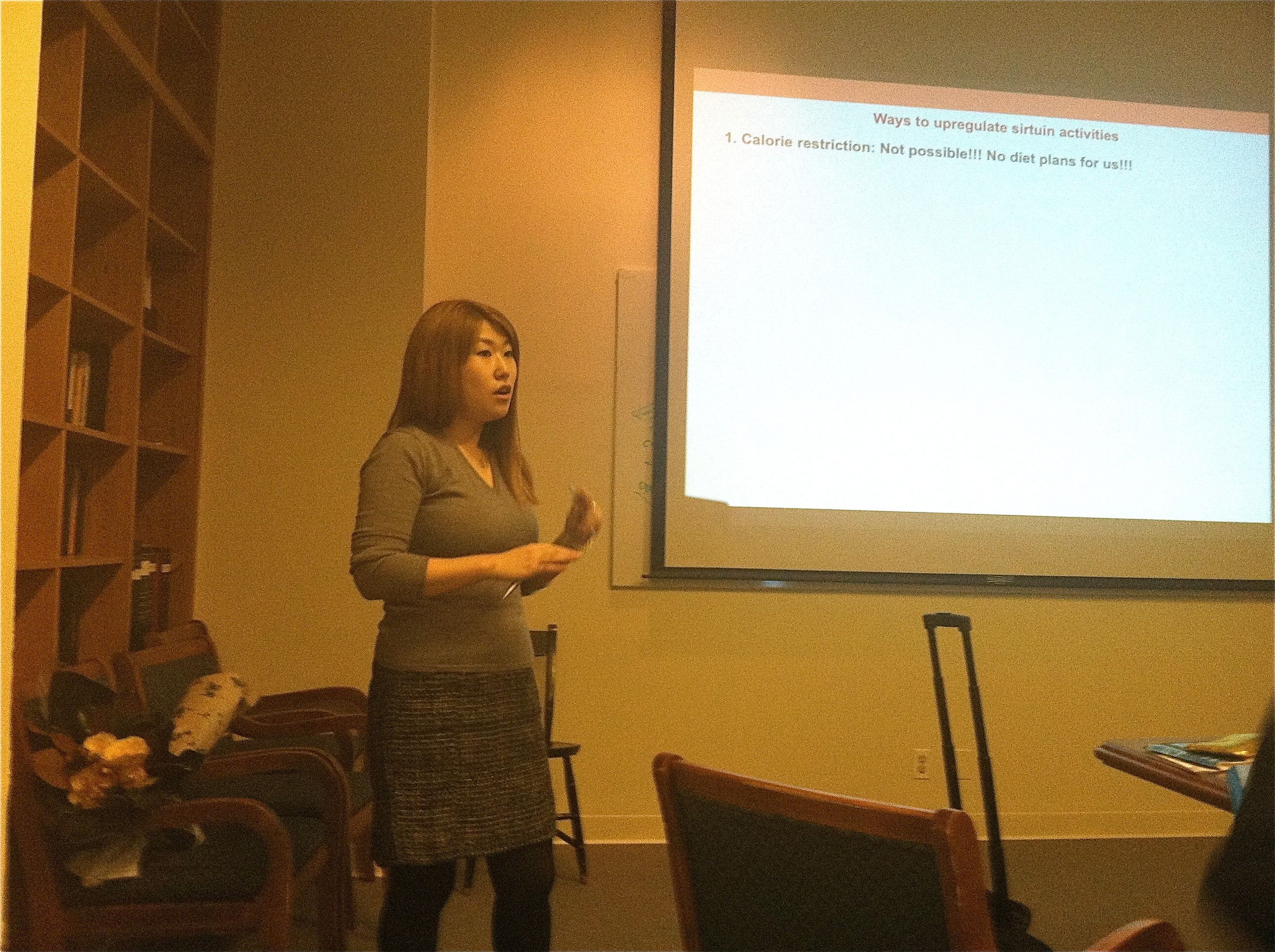 Dou Youn speaking at her defense.