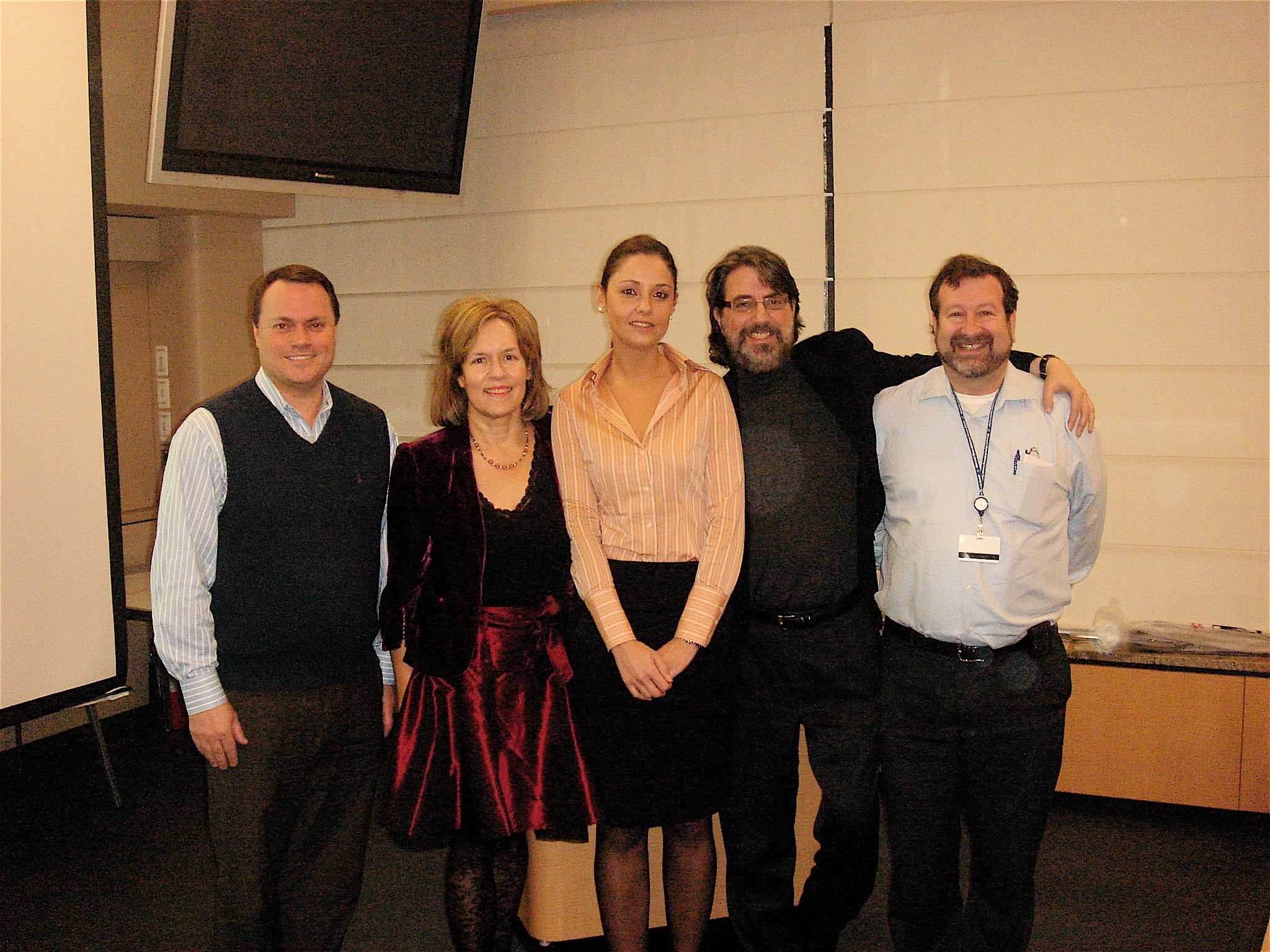 Branka with her thesis committee (l to r: Dr. David Lyden, Dr. Lorraine Gudas, Dr. Richard Kolesnick and Dr. David Scheinberg)