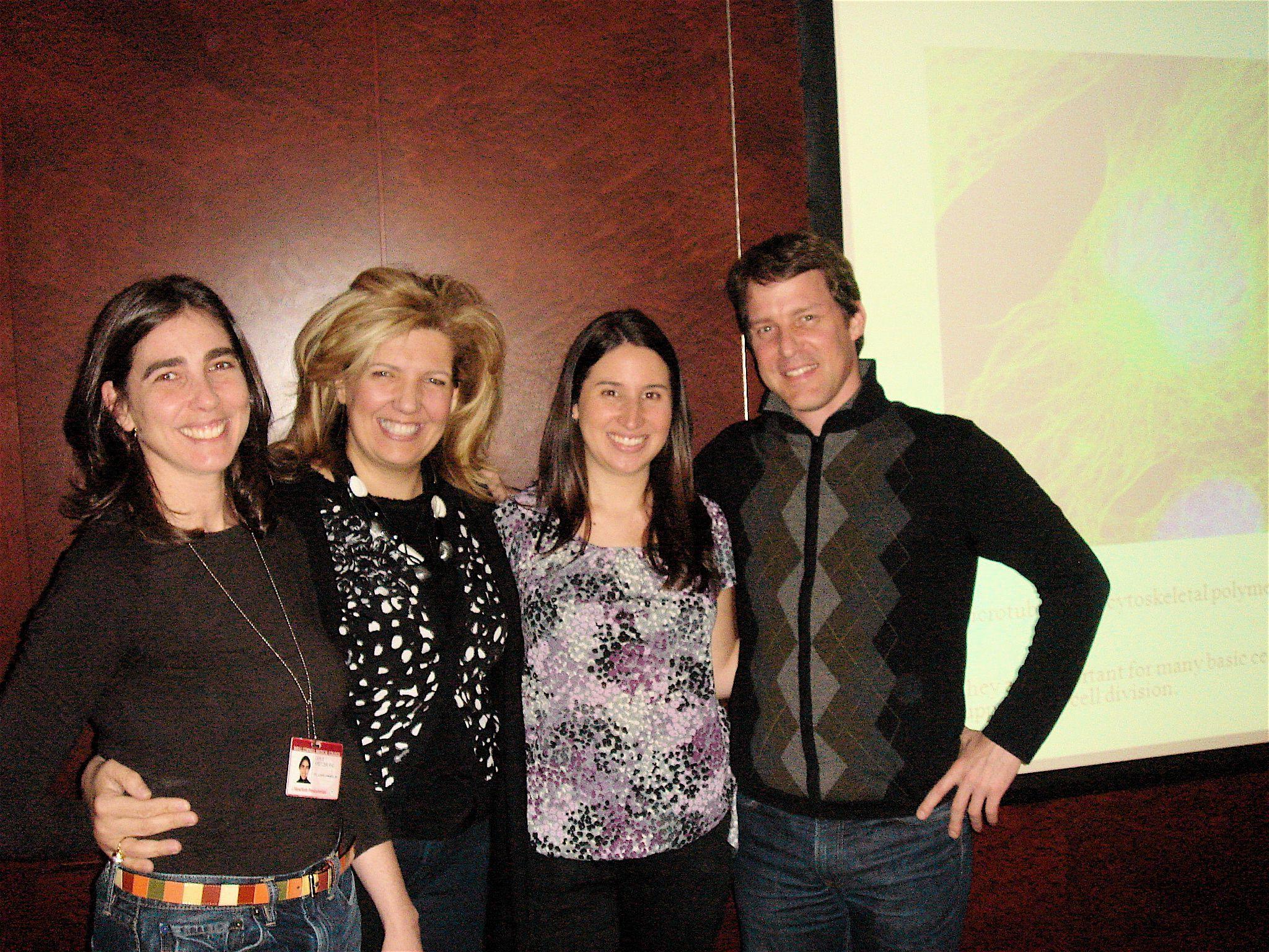 Dr. Geri Kreitzer; Dr. Evi Giannakakou, Marisa's thesis advisor; Marisa Carbonaro; and Dr. Scott Blanchard.
