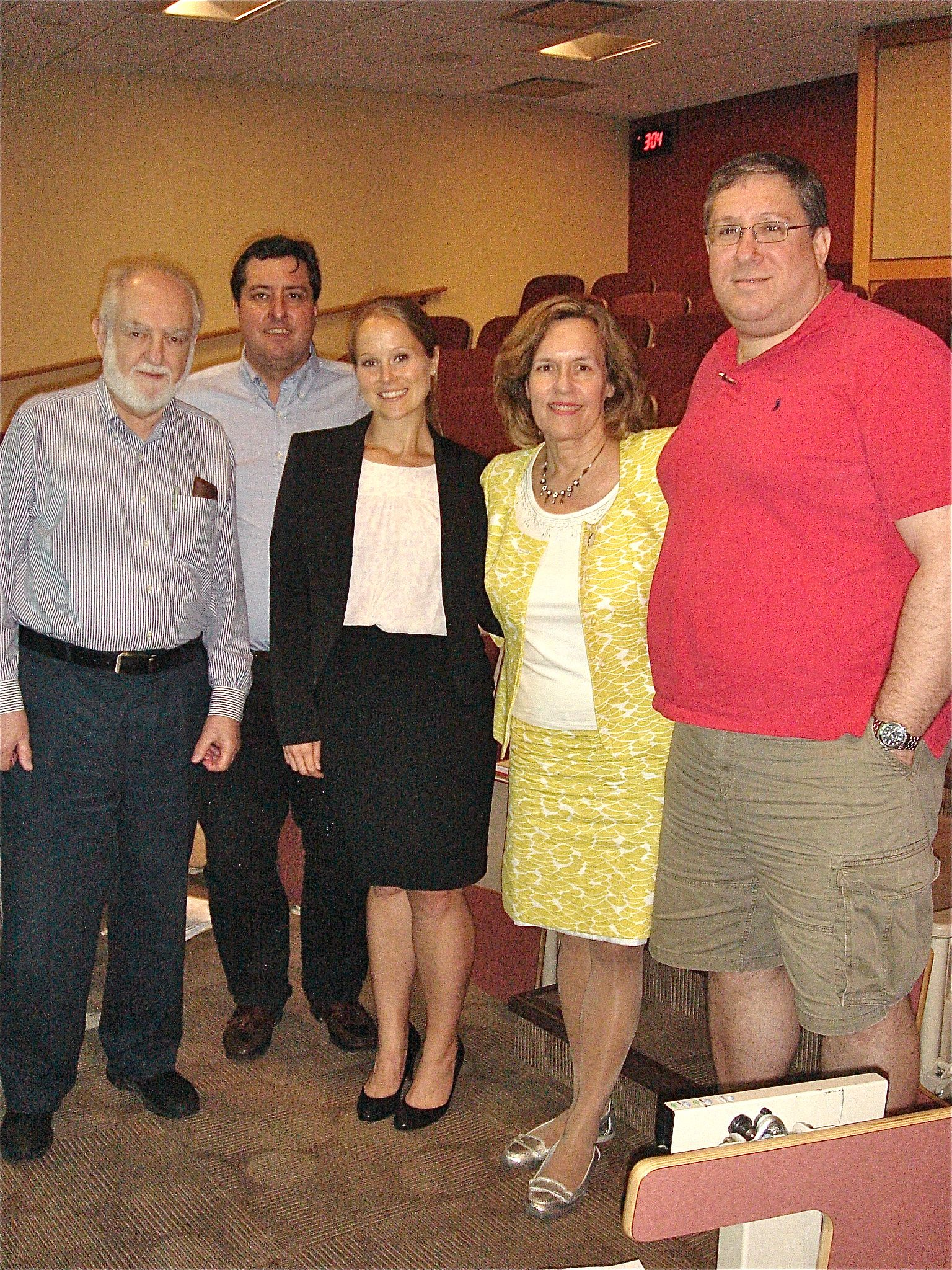 Dr. Gudas and group at Megan Ricard's defense.