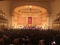 Carnegie Hall during graduation