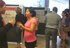Poster session with researchers.