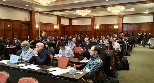 Audience at a pharmacology forum.