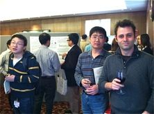 Researchers at poster session.