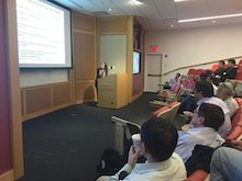 Pharmacology postdocs in class.