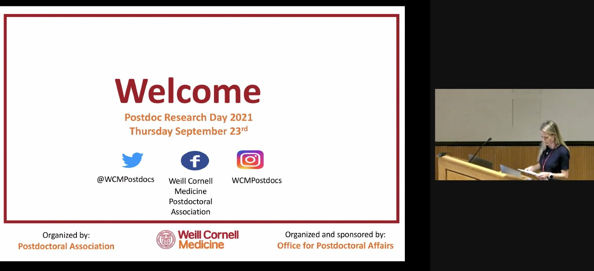 postdoctoral research day weill cornell