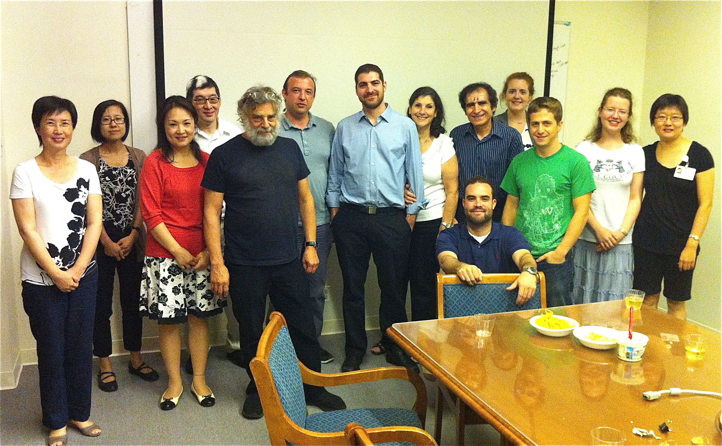 Group photo at Tal thesis defense.