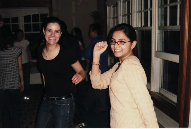 Students at a party.