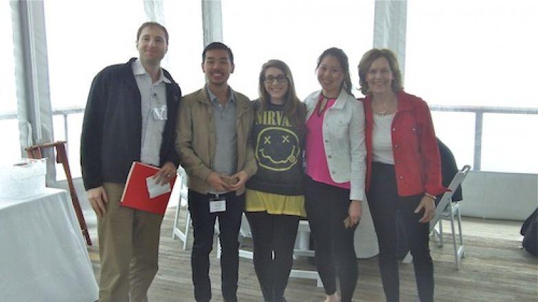 Dr. Kharas, Paul Jeng, Emily Baut, Claire Oh, Dr. Gudas