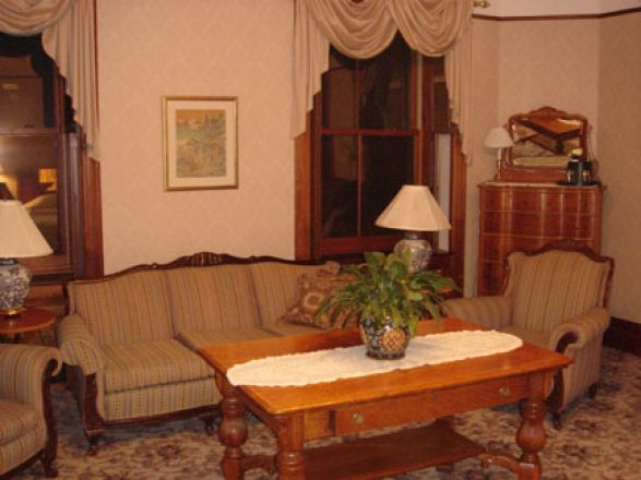 Interior of a room.