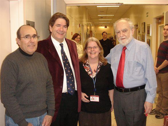Jim Pellegrino, Drs. John Wagner, Ann Foley and Roberto Levi