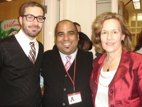 Stephen Hunt, Adriel Villegas-Estrada and Dr. Lorraine Gudas