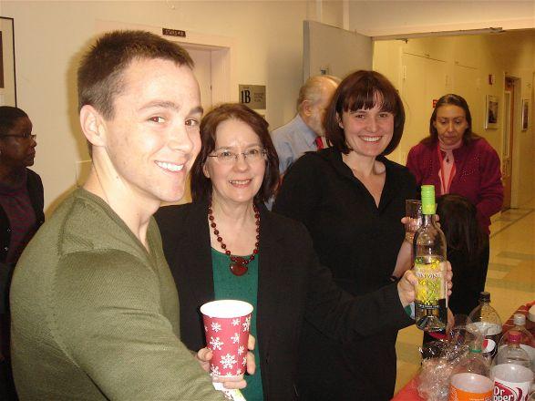 Michael Boice, Chris Conti and Kasia Marcinkiewicz