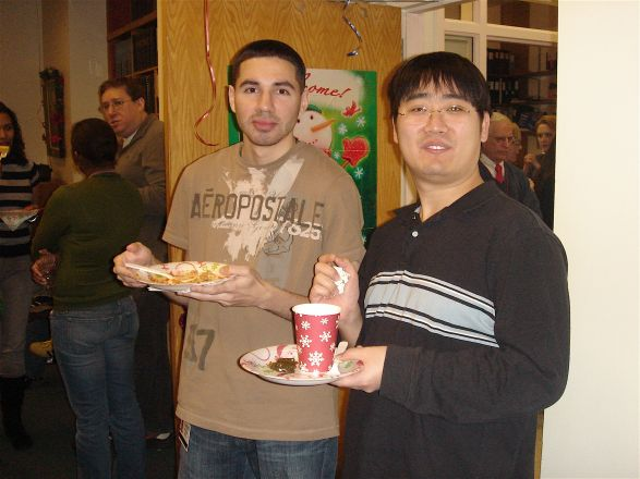 Carlos Rodriguez and Dr. Leiping Fu