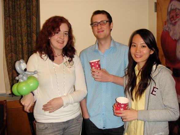 Emily Mercer, Chris Morrey and Noel Chan