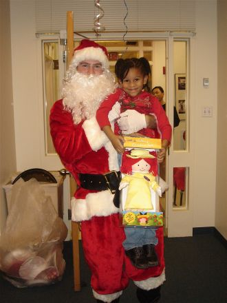 Santa (Chris Kelly) and Kristen